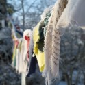 Frozen prayer flags